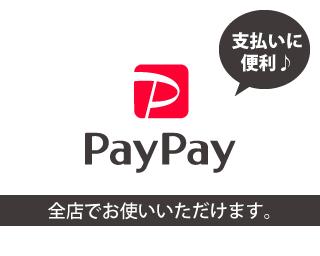 PayPayでお支払いOK